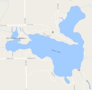Map Miner Lake Dam
