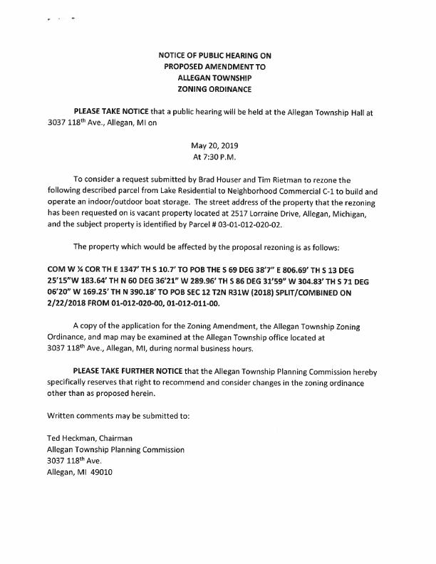 MLPOA - Zoning Notice 2019